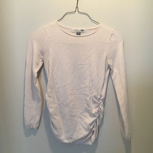 Ivory long sleeve mat edit sweater old navy small
